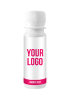 Custom branded energy shots