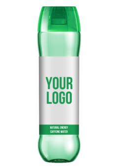 Promo natural mineral caffeine water