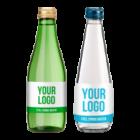 Promo custom label spring water - 330 ml glass bottles