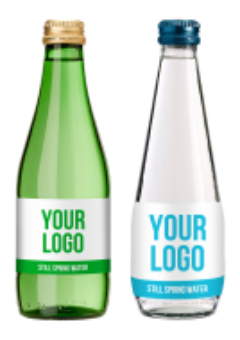 Promo custom label spring water - 330 ml glass bottles