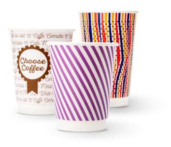 papirové kelimky na kávu promotional paper cups